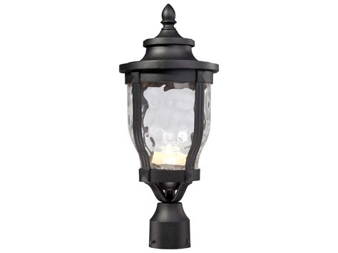 minka lavery wynterfield black led outdoor post light