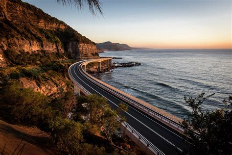 Sea Cliff Bridge Clifton Australia Iconic Shot