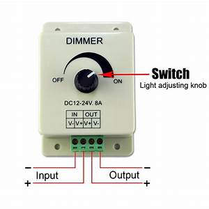 Dc 12v 8a Light Dimmer Brightness Adjustable Control For