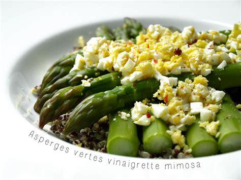asperges vertes vinaigrette 224 l oeuf mimosa 171 cookismo