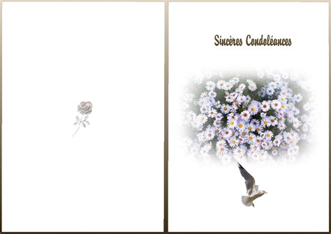 carte de condoleance modele condol 233 ances carte 224 imprimer 0 sinc7res condoleances