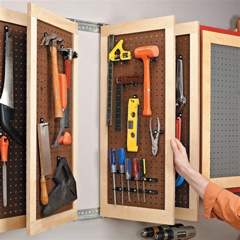 Tool Closet Organization Ideas by Sliding Door Closet Organization Pegboard Garage Tool