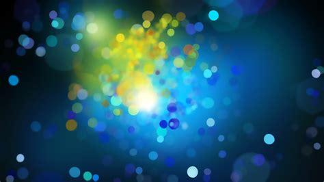 blue yellow bokeh circles desktop wallpaper