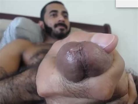 Sexy Hairy Arab Stud Jerking Off