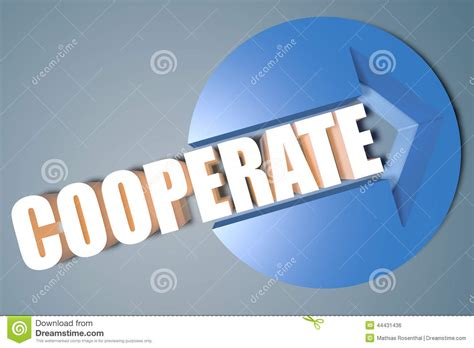 Cooperate Stock Photo
