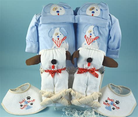 twin boys baby gift basket  pups  silly phillie