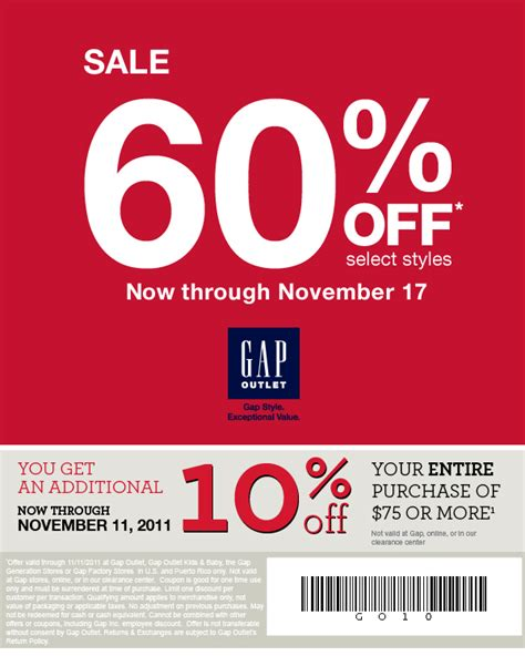 73316 Last King Clothing Discount Code by 10 Percent Gap Outlet Printable Coupon Print
