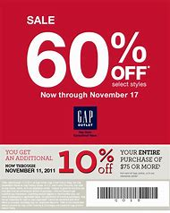 gap outlet coupons printable