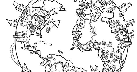 The World. Coloring Page
