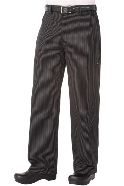 professional series pant gray stripe chef works