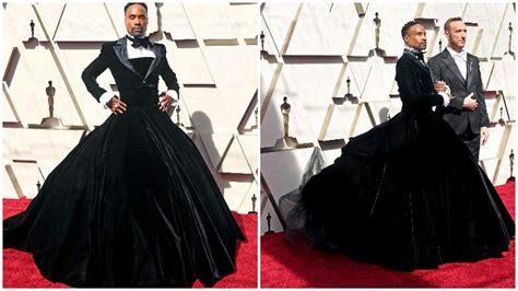 Photos Billy Porter Wears Tux Gown Oscars