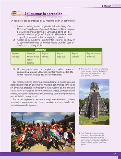Catálogo de libros de educación básica. Atlas De Geografia Del Mundo 6to Grado 2020 2021 Pdf ...