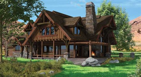 chalet home plans flat iron chalet log home plan