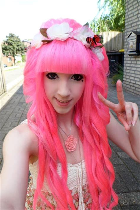 Directions Carnation Pink Hair Colar And Cut Style