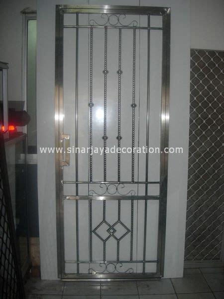 pintu kasa nyamuk stainless sinar jaya decoration