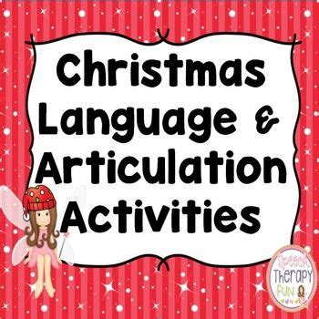 christmas language and articulation activities are a great