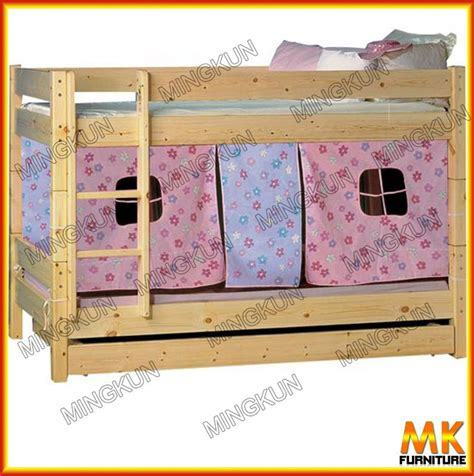 pine bunk bed with play curtain buy pine bed pine wood