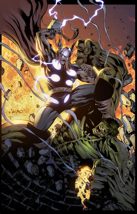 hulk  thor mural  nerd