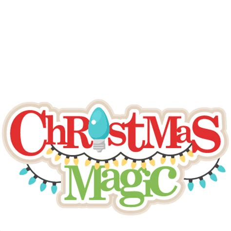 scrapbook title for christmas foods on the table magic title svg scrapbook title cut outs for cricut svg cut files free