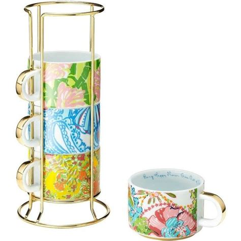 Shop for coffee mug sets at bed bath & beyond. Lilly Pulitzer for Target Ceramic Mugs with Gold Caddy ...