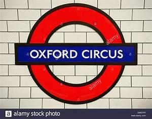 Oxford Circus Underground Station Sign. London, UK Stock ...