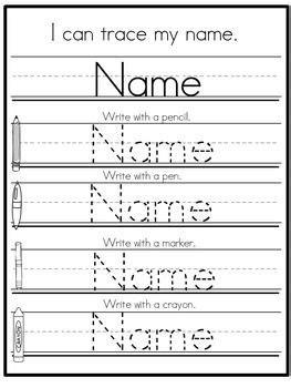 editable  practice standard print set  kindergarten