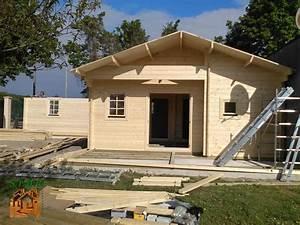 montage chalet en bois habitable avec garage stmb With montage d un garage en bois