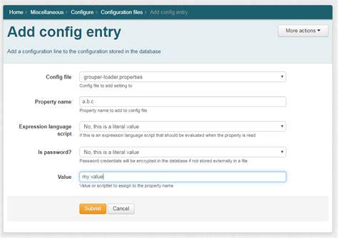 grouper readwrite configuration ui mode internet2 config entry edit