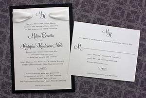 classic archives page 3 of 11 emdotzee designs With formal wedding invitations with ribbon
