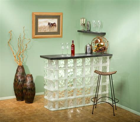 Home Bar Glass by Ideas For Glass Blocks Modern Home Bar Chicago By