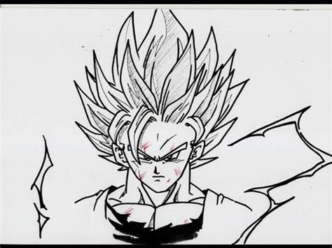 draw goku super saiyan  youtube