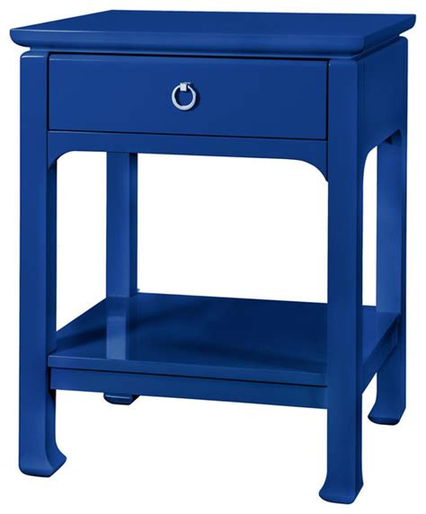navy blue side table bungalow 5 bruna top drawer regency white lacquer