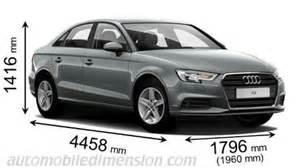 audi a3 sedan size dimensions des voitures audi longueur x largeur x hauteur