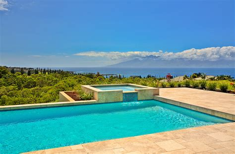 pool deck tropical pool hawaii  architectural