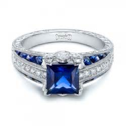 blue sapphire engagement ring custom blue sapphire and engagement ring 102163