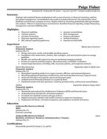 financial analyst resume keywords best financial analyst resume exle recentresumes