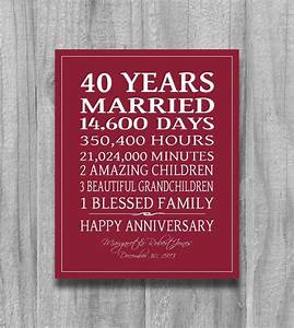 best 25 40th anniversary gifts ideas on pinterest 40th With 40 year wedding anniversary gift