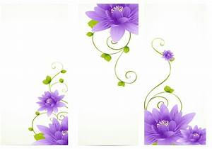 Purple Flower Banner Vector Pack - Download Free Vector ...