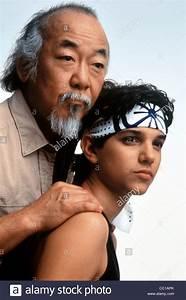 PAT MORITA & RALPH MACCHIO THE KARATE KID (1984 Stock ...
