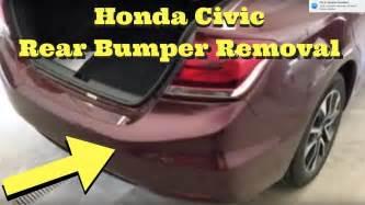 honda civic rear bumper removal