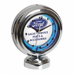 Ford FRD Tabletop Neon Clock