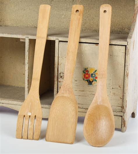 bamboo kitchen accessories 3 set of bamboo kitchen utensil tools kitchen 1461