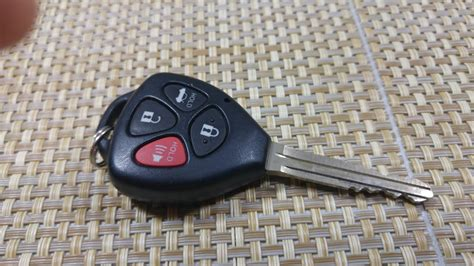 replace keyless entry key fob battery   toyota