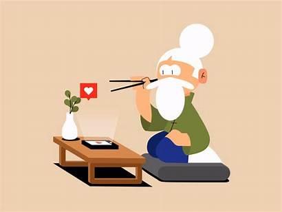 Animated Magnusson Markus Dribbble Animation Chopsticks Storytelling