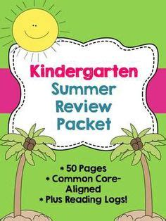 Kindergarten Summer Packet On Pinterest  1st Grades, Kindergarten And Homework