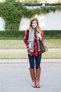 Casual Fall Outfit: Herringbone vest and plaid + Riding Boots