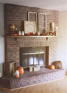 Red Brick Fireplace Decorating Ideas