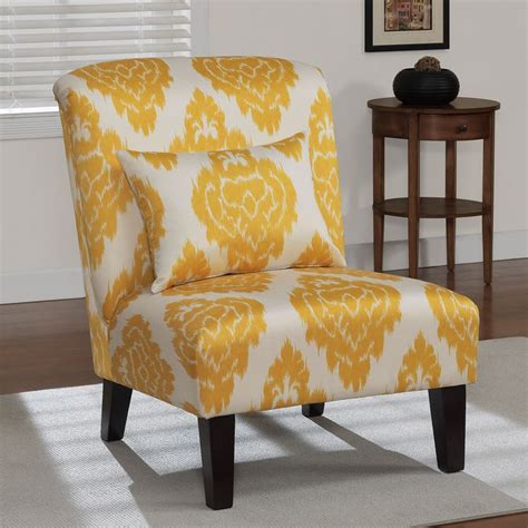 yellow ikat accent chair