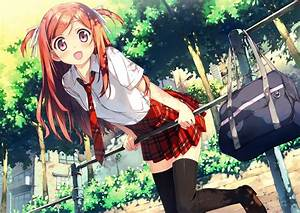 Anime, Anime, Girls, Schoolgirls, Plaid, Wallpapers, Hd, Desktop, And, Mobile, Backgrounds