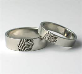 wedding rings uk fingerprint wedding rings